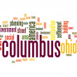 Stock Photo: Columbus word cloud