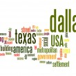 Stock Photo: Dallas word cloud