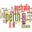 Stock Photo: Perth word cloud