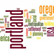 Stock Photo: Portland word cloud