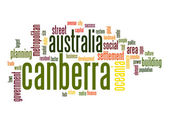 Canberra  word cloud — Stock Photo