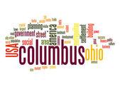 Columbus slovo mrak — Stock fotografie
