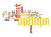 Copenhagen word cloud — Stock Photo