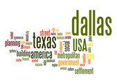 Dallas word cloud — Stock Photo