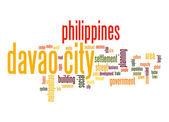 Davao City word cloud — Stock Photo