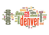 Denver word cloud — Stock Photo