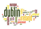 Dublin word cloud — Stock Photo