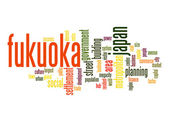 Fukuoka word cloud — Stock Photo