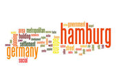 Hamburg word cloud — Stock Photo
