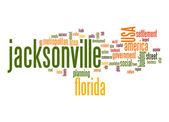 Jacksonville word cloud — Stock Photo
