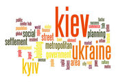 Kiev word cloud — Stock Photo