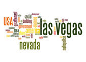 Las Vegas word cloud — Stock Photo