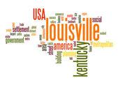 Louisville word cloud — Stock Photo