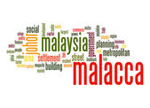Malacca word cloud — Stock Photo