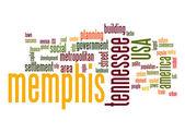 Memphis word cloud — Stock Photo