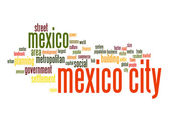 Mexico City word cloud — Stock Photo