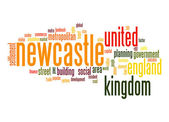 Newcastle word cloud — Stock Photo