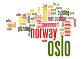 Oslo word cloud — Stock Photo