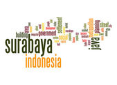 Surabaya word cloud — Stock Photo