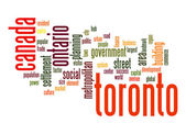 Toronto word cloud — Stock Photo