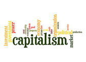 Capitalism word cloud — Stock Photo