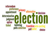 Election word cloud — Stock Photo