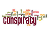 Conspiracy word cloud — Stock Photo