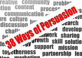 38 ways of persuasion word cloud — 图库照片