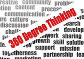 360 Degree Thinking — Stock Photo