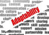 Adaptability word cloud — Stok fotoğraf