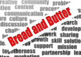 Bread and butter word cloud — Stockfoto