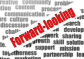 Forward-looking word cloud — Stock Photo