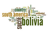 Bolivia word cloud — Stock Photo
