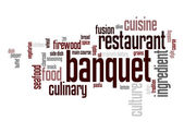 Banquet word cloud — Stock Photo