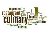 Culinary word cloud — Stock Photo
