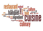 Cuisine word cloud — Stock Photo