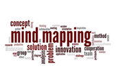 Mind mapping word cloud — Stock Photo