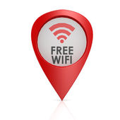 Free wifi red pointer — Stock Photo