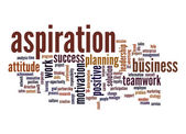 Aspiration word cloud — Stock Photo