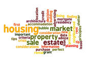Housing Market word cloud — Stock Photo