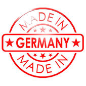 Made in Germany red seal — Stock Photo