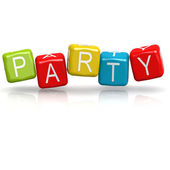 Party buzzword — Stock Photo