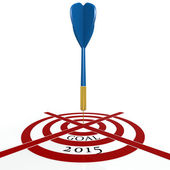 Dart board with goal 2015 — Stock Photo
