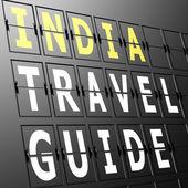 机场显示印度旅游指南 — 图库照片