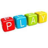 Play buzzword — Stock Photo