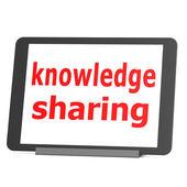 Таблица обмена знаниями — Стоковое фото