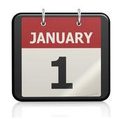 El 1 de enero, año nuevo calendario — Foto de Stock