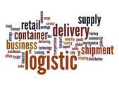Nube parola logistica — Foto Stock