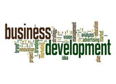 Business development word cloud — Stockfoto