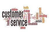 Nube de palabras de servicio al cliente — Foto de Stock